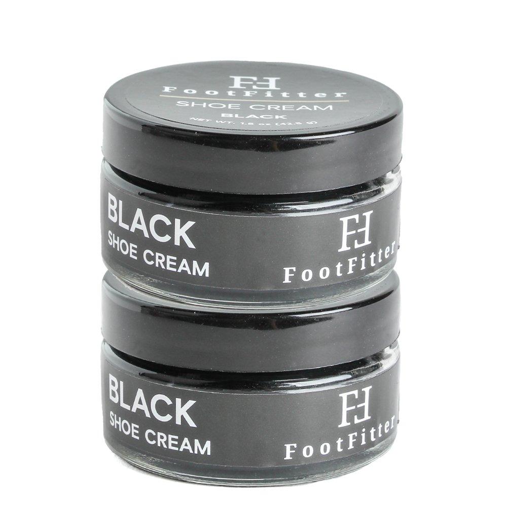 FootFitter Premium Shoe Cream Polish, paquete de 2, crema de