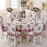 Round tablecloth,European family table cloth-B diameter180cm(71inch)