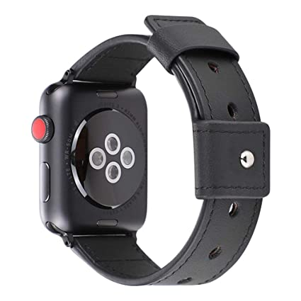 the best attitude 2cfa1 a3c7a Amazon.com: iBaste Business Leather Replacement Wristband for Apple ...