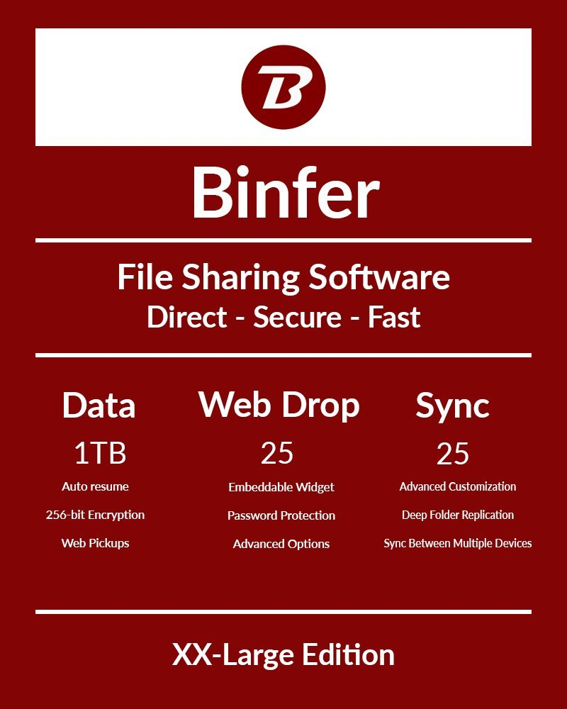 Binfer - File Sharing and Secure Communication Suite [XX-Large Subscription] by Binfer