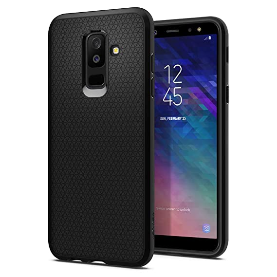 new concept 33c0f a5052 Spigen Liquid Air Armor Galaxy A6 Plus Case with Light but Durable Flexible  Protection with Geometric Pattern for Galaxy A6 Plus (2018) - Black