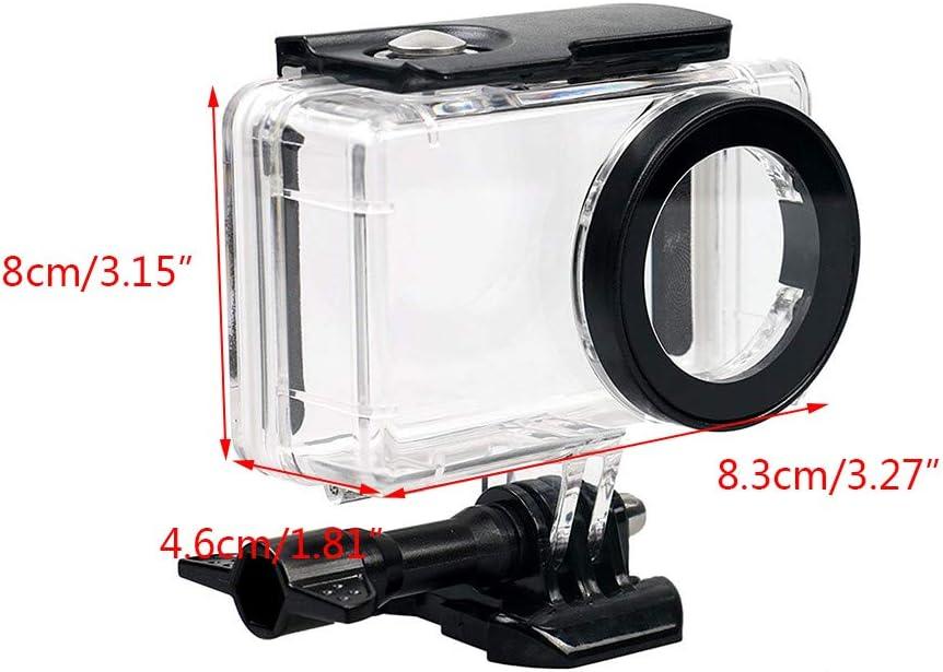 jinxer Transparent Waterproof Case,Diving 45M Housing Case Compatible with Xiaomi Mijia 4K Mini Action Camera
