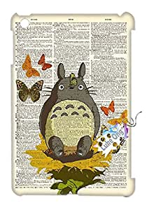 Ipad Mini(3D) My Neighbor Totoro Design Fashion Case Back Cover Metal and Hard Plastic Case-Clear Frame.