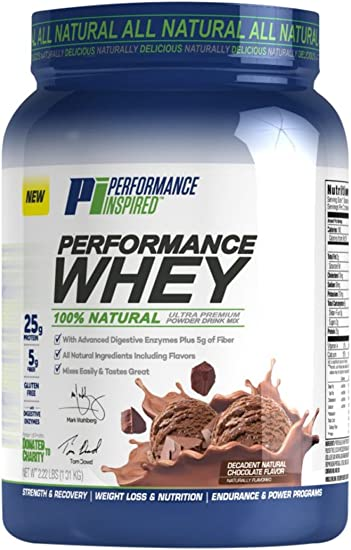 Performance Inspired Nutrition Performance Whey Protein, Decadent Natural Chocolate, 2.22 Lb – Style Pwchoc