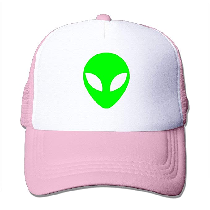 fd6db845bf8 Amazon.com  Green Alien Head UFO Cartoon ET Trucker Hats   Caps with ...