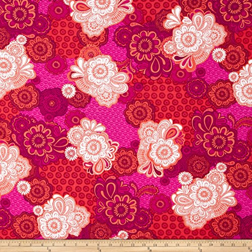 kanvas-bakers-delight-embroidered-patch-fuschia-fabric-by-the-yard