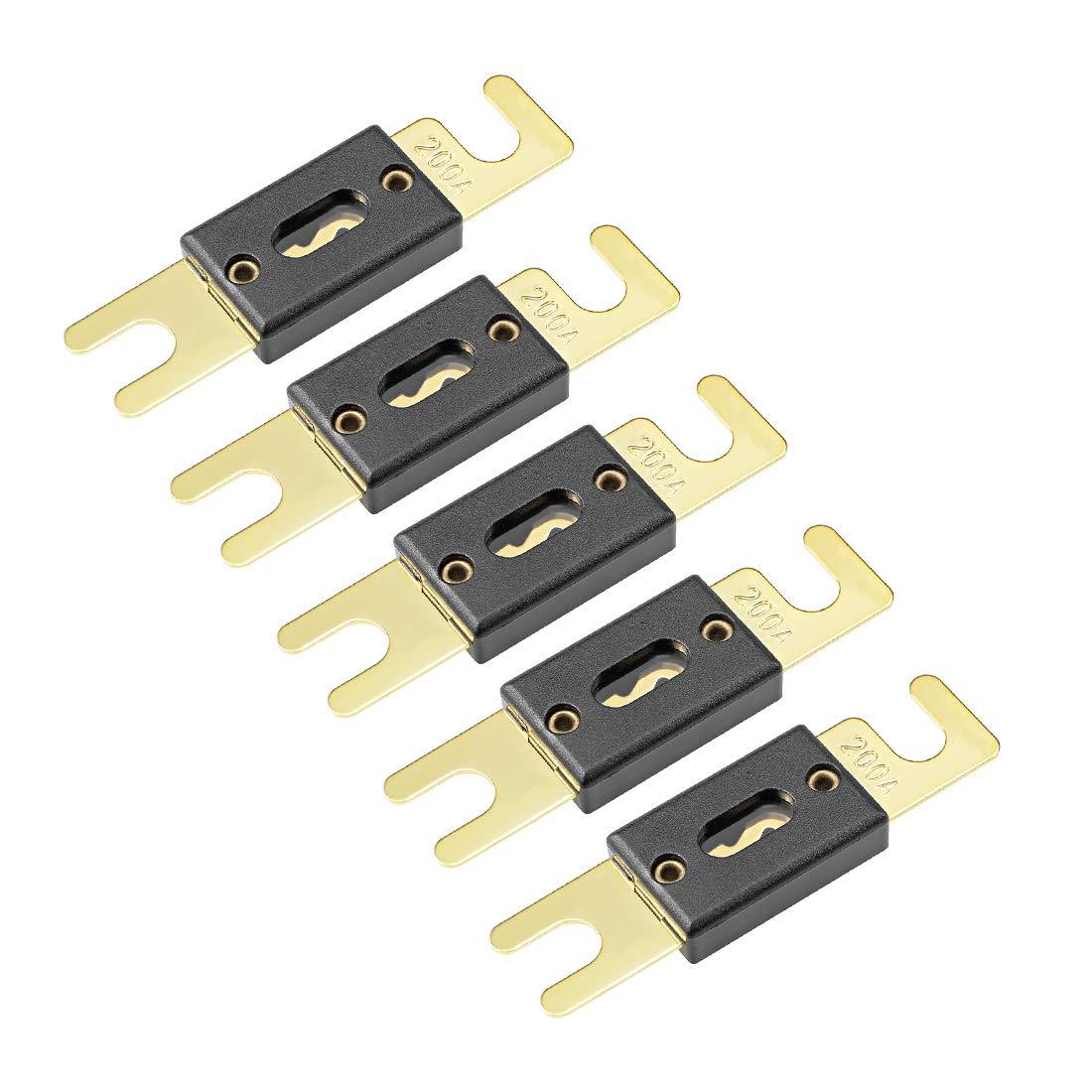 sourcing map ANL Fuse 30 Amp DC 32 Volt for Automotive Car Vehicle Audio Amplifier Inverter Replacement 5pcs