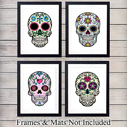 10 Day Print - Sugar Skull Wall Art Print Decor- 8x10 Unframed Photo - Great Gift - Day of the Dead