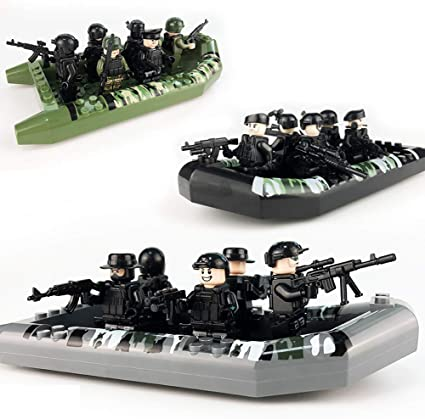 Educational Building Blocks Toys Military Heroes Figures Weapon 6 Soldiers