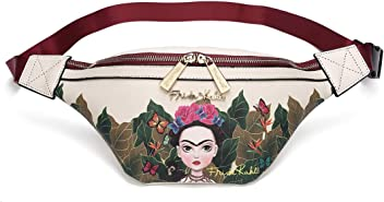 Frida Kahlo Faux Leather Fanny Pack (Red)