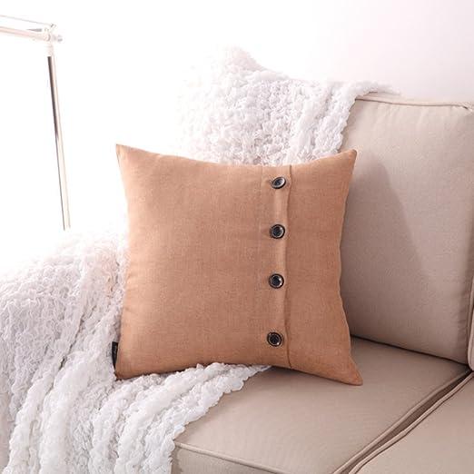 fendie® algodón almohada Salón sofá dormitorio cama funda de ...