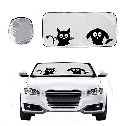 Amazon.com  Car Sun Shade for Windshield with Cute Cartoon Eyes ... 6132b0c96dd