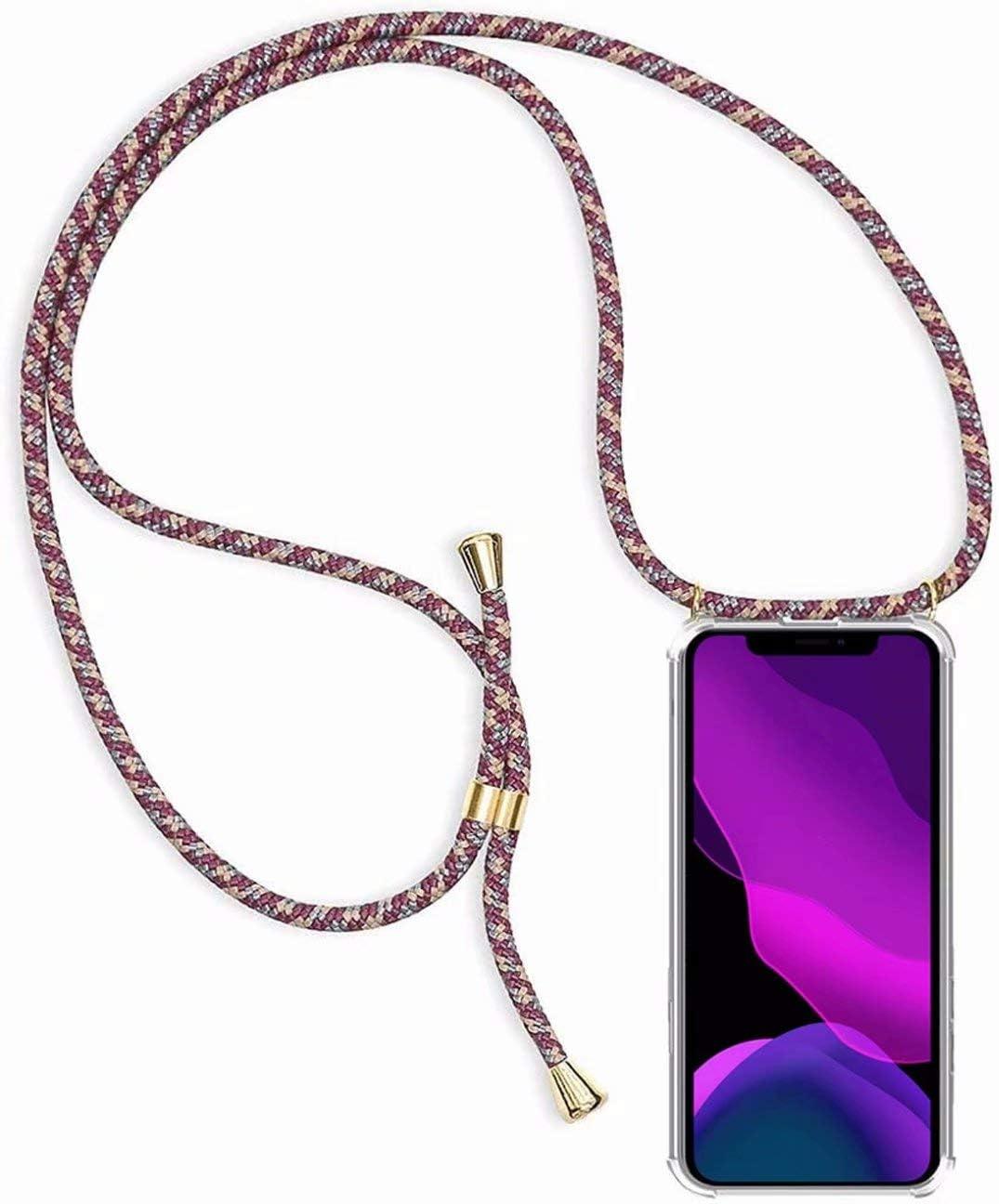 2ndSpring Funda con Cuerda Compatible con Samsung Galaxy Note 9,Colgante Collar Correa de Cuello Cadena Cord/ón,Verde Oscuro