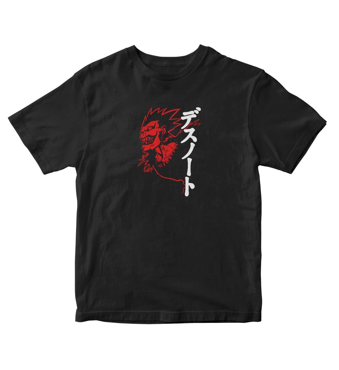 Tjsports Ry Face Kanji Death Note Anime Manga S Black Shirt A779