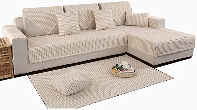 Ginsenget Funda sofá Funda sofá 1/2/3/4 Seater Funda sofá 1 Pieza Silla Loveseat Sofá Protector Muebles,Funda sofá algodón Lino,Camel,70 * 70cm: Amazon.es: Hogar