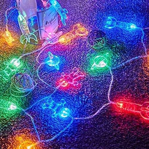 50 LED Children s Room LED String Light Astronaut Spaceship Rocket Pendants Holiday Party Lights Wall Window Nursery or Kids room Decor Wedding Around the Garden Party Patio Christmas Multicolour