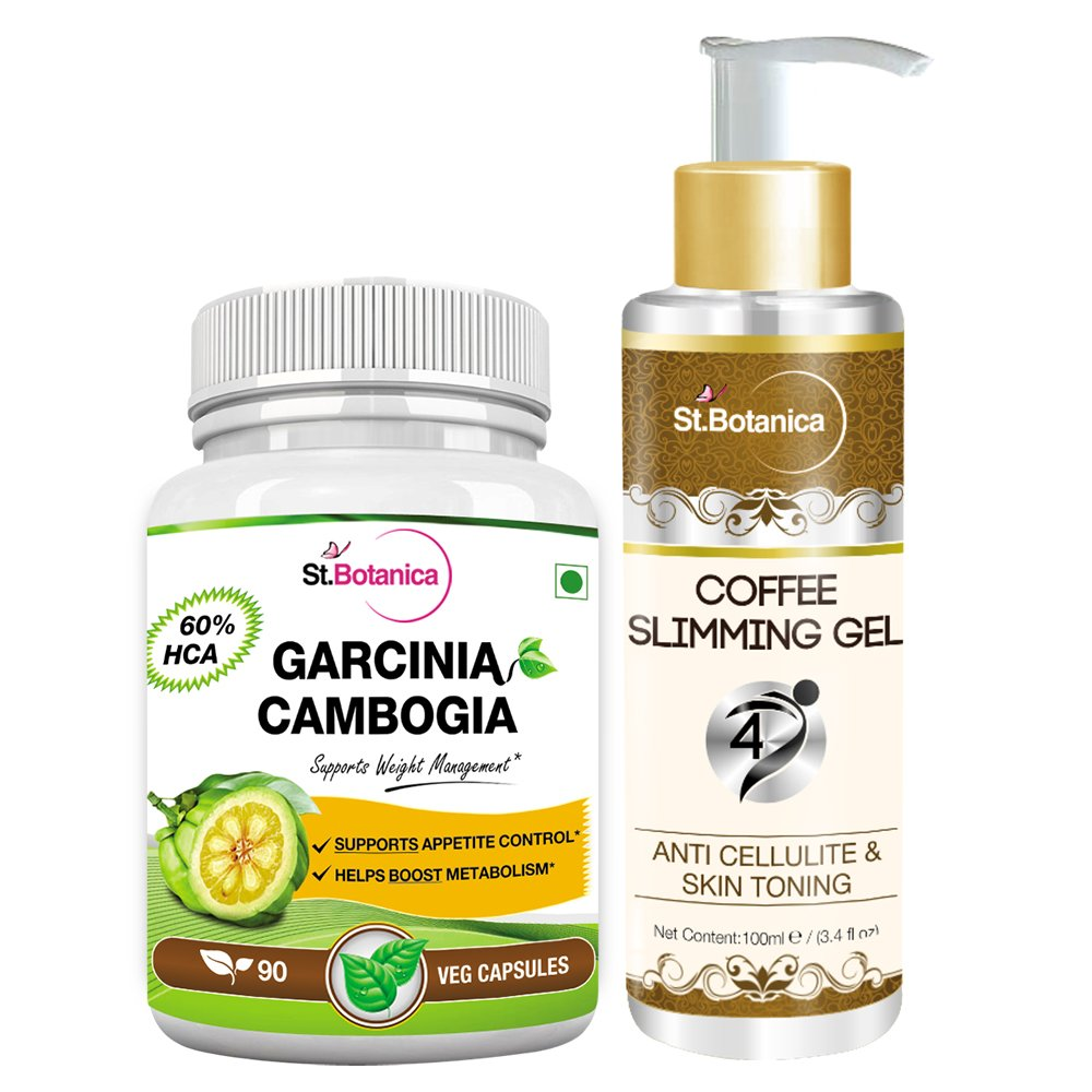 St.Botanica Garcinia - 60% HCA 500mg - 90 Caps + Coffee 4D Slimming Cream