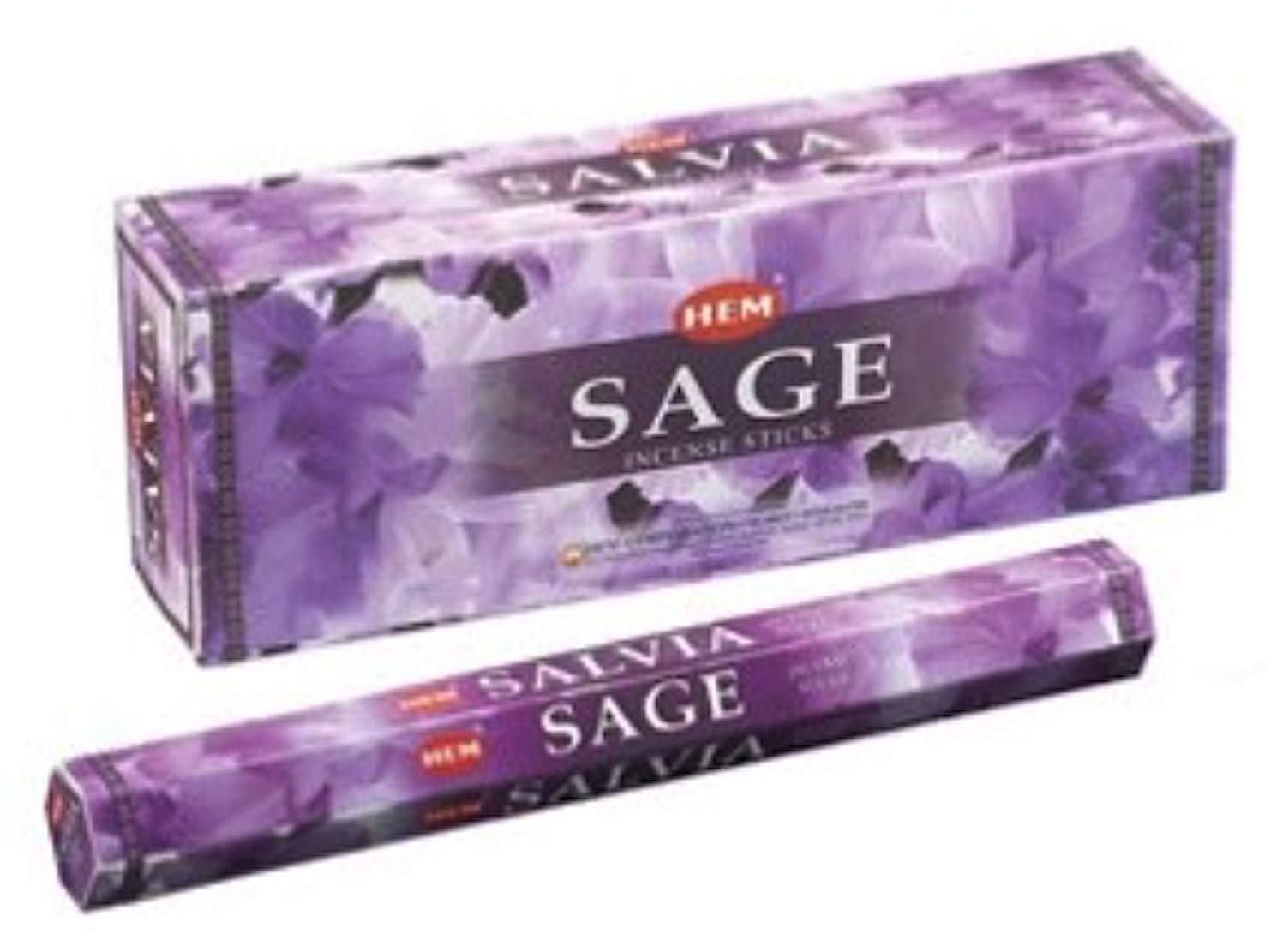 BuddyDee Sage - Box of Six 20 Stick Hex Tubes - HEM Incense Hand Rolled In India