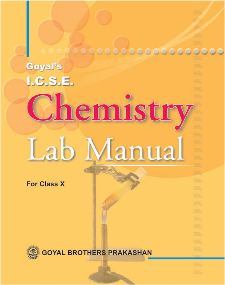 Amazon.in: Buy ICSE Chemistry Lab Manual Part 2 for Class X Book Online at  Low Prices in India | ICSE Chemistry Lab Manual Part 2 for Class X Reviews  & ...