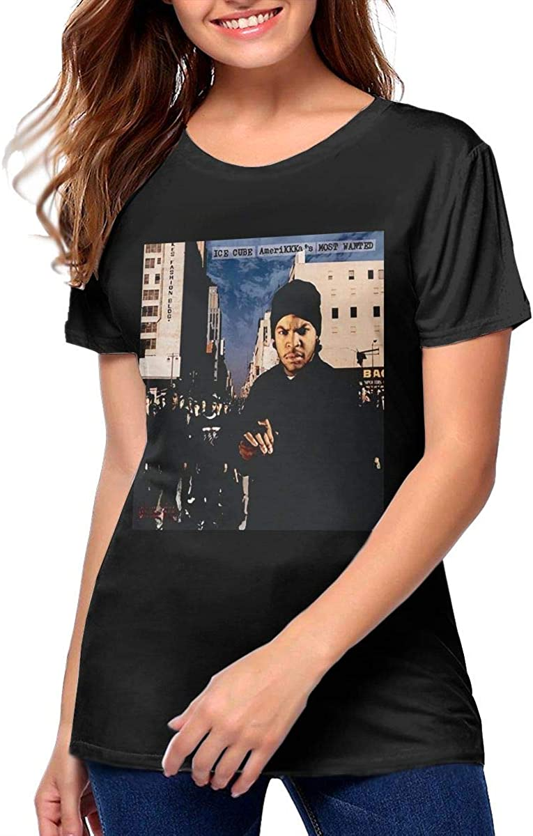 Amerikkkas Most Wanted Short Sleeve T-Shirt Funny Graphic Tees Blouse Womans