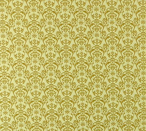 Golden Urn - Melody Jane Dollhouse Regency Gold Urn Miniature Print Wallpaper 1:12 Scale