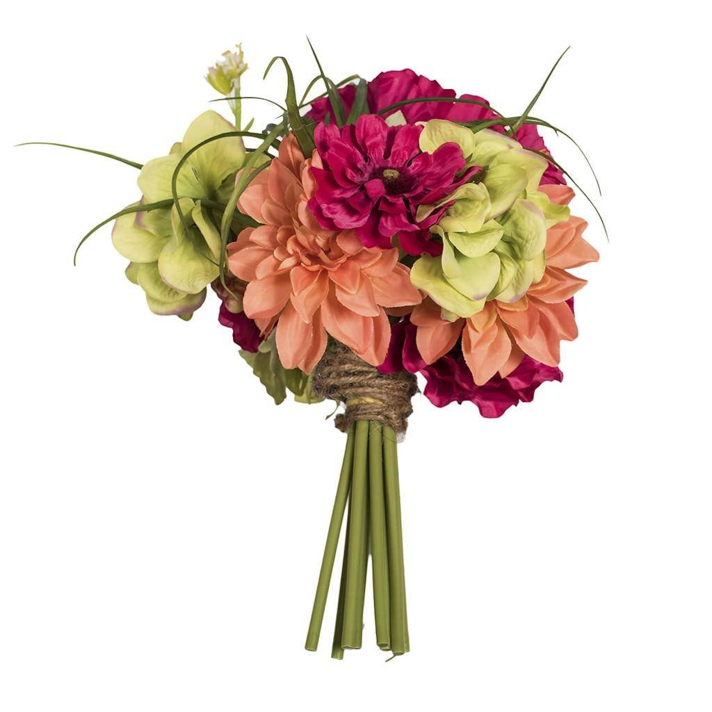 Vickerman F12287 Mixed Poppy Dahlia and Succulent Everyday Floral