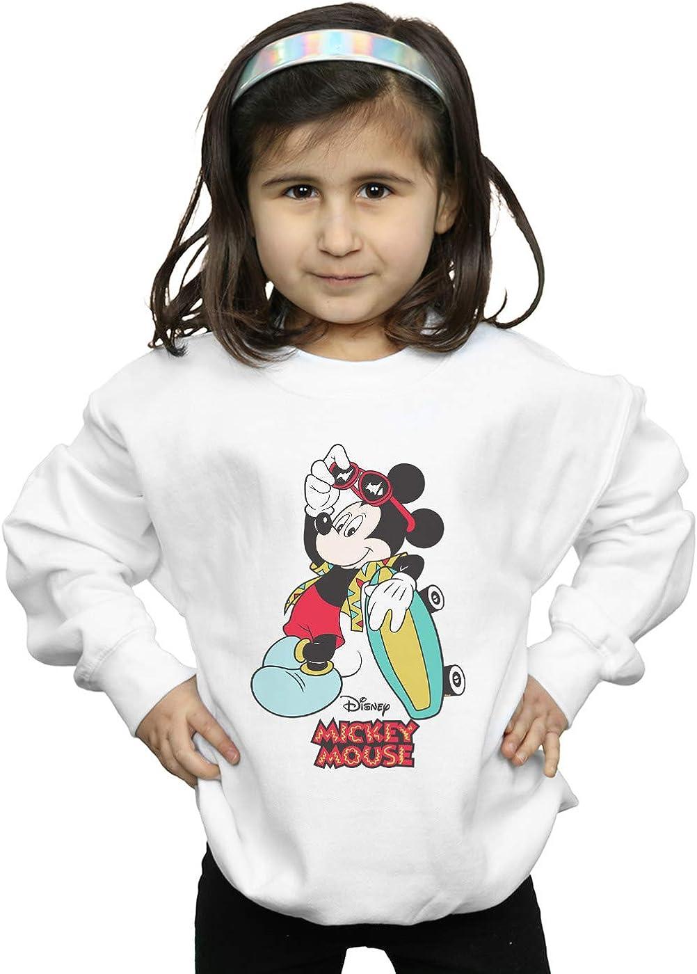 Disney Girls Mickey Mouse Skate Dude Sweatshirt