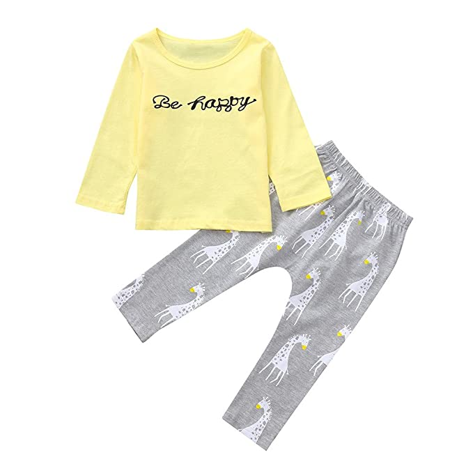 Amazon.com: Conjunto de ropa para bebés y niñas de 0 a 24 ...