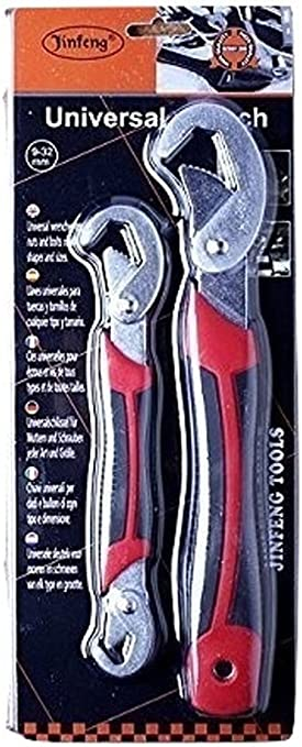 Ideal for Plumbing Sehfupoye Adjustable Wrench Spanner Set 2 Piece Multifunctional Universal Wrenches 0.3-1.26Inch Jaw Opening Carpentry