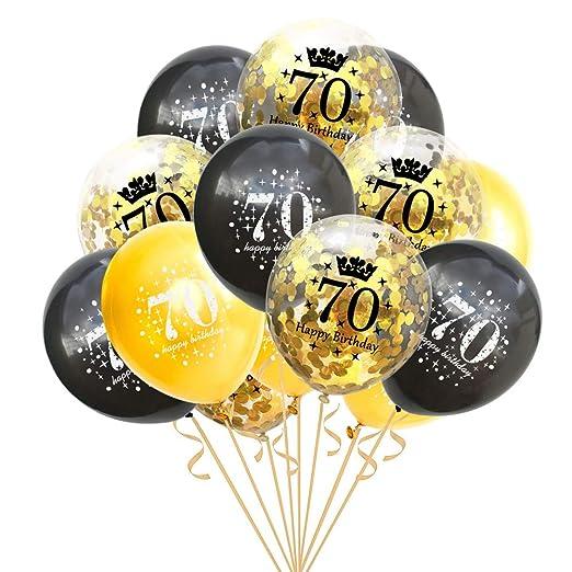 ZXGQF Globos de látex, para cumpleaños, 16 18 30 40 50 60 ...