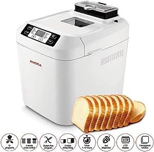 CattleBie Breadmakers, Automatic Breadmakers Gluten Free Menu Bread Machine 2LB, 12 Preset Functions FastBake Breadmakers Beginner Friendly Bakery Bread Maker 2LB, 550W