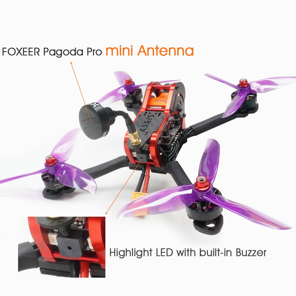 Runcam Swift 2 FPV Camera ARRIS X210S 210MM 5 RC Quadcopter FPV Racing Drone DIY Version W//Flycolor 4-in-1 Tower VT5804 V2 VTX Hobby-wing