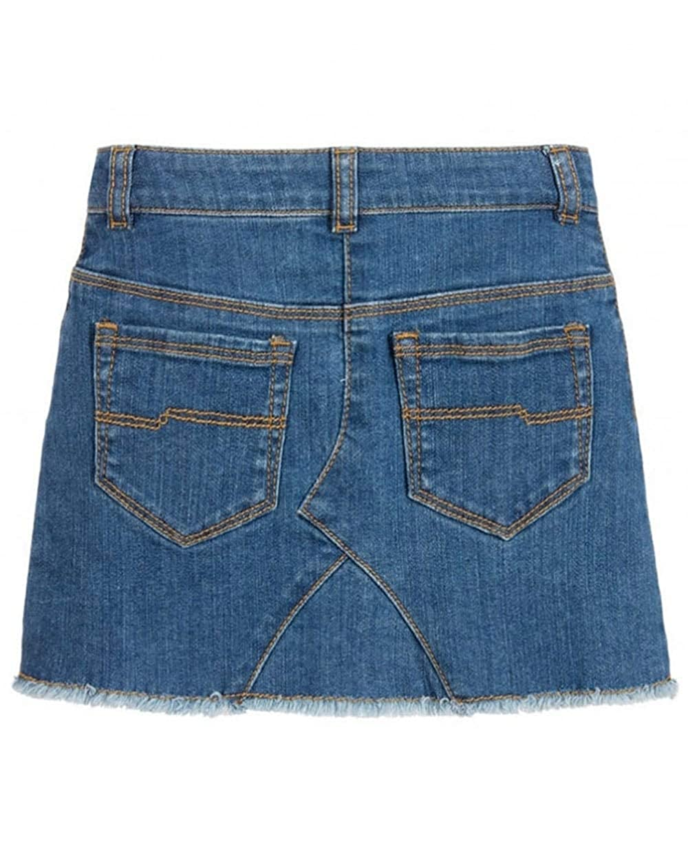70e59b283 Amazon.com: Little Marc Jacobs Girl's Denim Skirt (Big Kids) Denim Blue 12:  Clothing