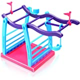 Fingerling Interactive Baby Monkey Pet Toy Climbing Playset Frame Climbing Stand Seesaw Swing Set(Monkey is not included)