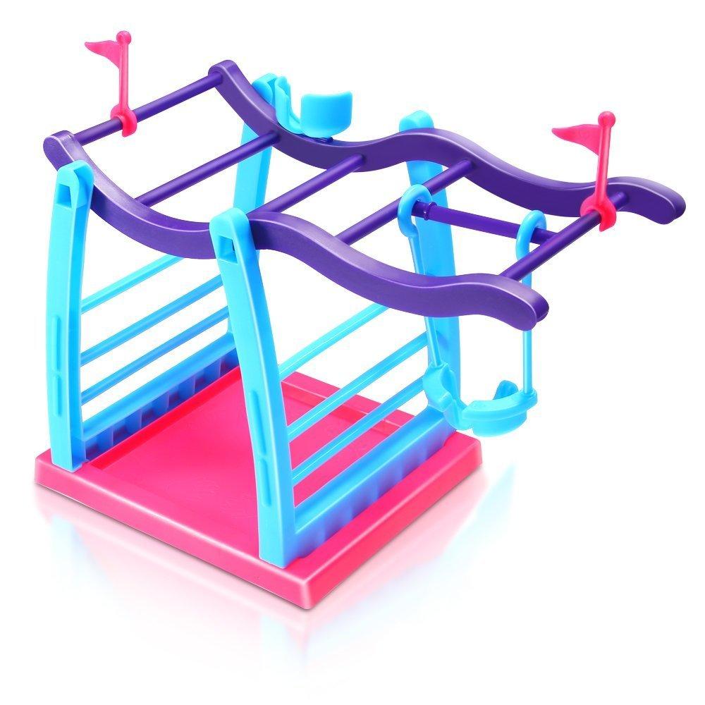 Fingerling interaktives Baby Monkey PET Toy Klettern Spielset Rahmen Klettern Stand Wippe Schaukel Set (Monkey ist nicht enthalten) Asien