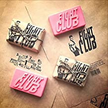 2 pcs / lot ~ Fight Club 1999 Dramatic Action Movie Bar of Soap Handmade by Project Mayhem - Novelty,Unisex, New (PINK)