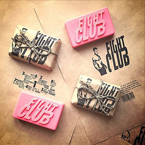 Fight Club 1999 Dramatic Action Movie Bar of Soap Handmade by Project Mayhem – Novelty,Unisex, New (PINK)