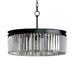 Lumos Luxury Modern Crystal Chandelier Pendant Ceiling Lamp/Crystal lighting fixture for Dining Room, Living Room (5 lights)