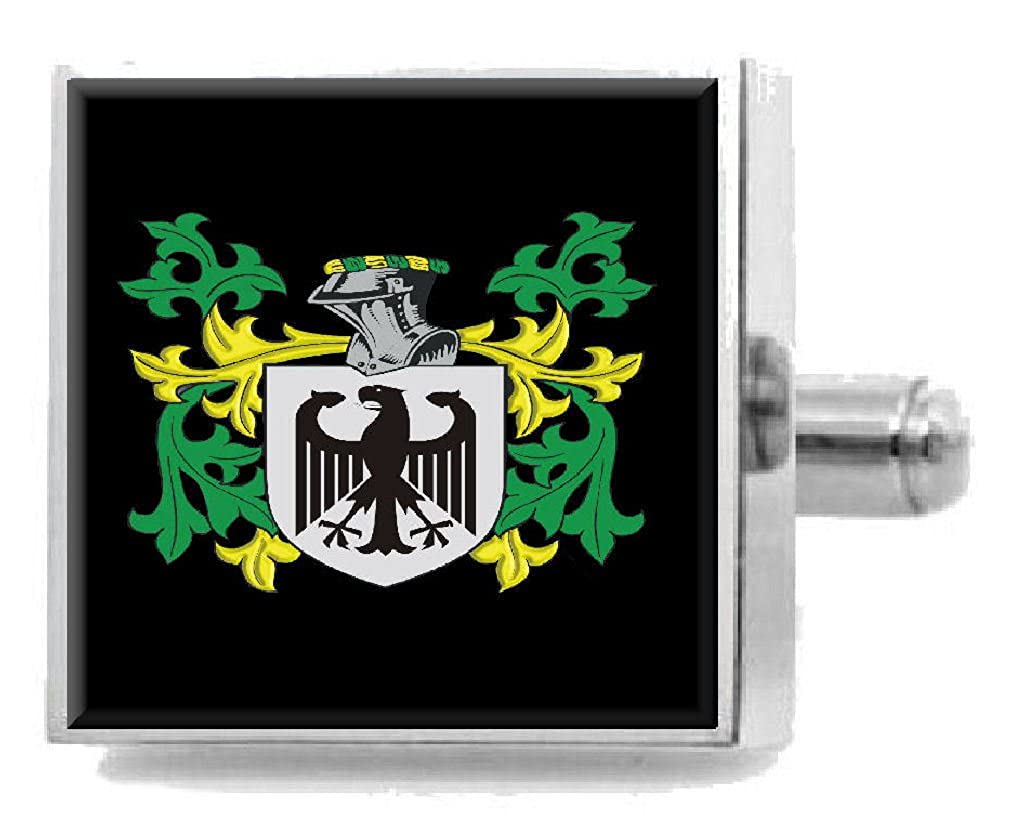 Select Gifts Coltman England Family Crest Surname Coat Of Arms Cufflinks Personalised Case
