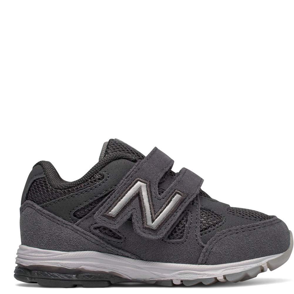 New Balance Boys' 888v1 Hook and Loop Running Shoe, Magnet/Marblehead, 2 M US Infant
