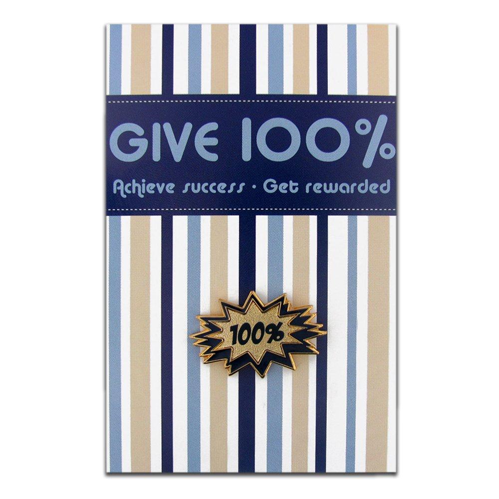 PinMart's 100% Lapel Pin on Presentation Card Motivational Employee Student Gift