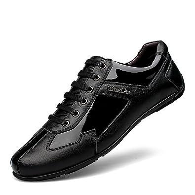 nbsamengファッション韓国レザーカジュアル男性の靴ブランドPure Handメンズ靴 カラー ブラック