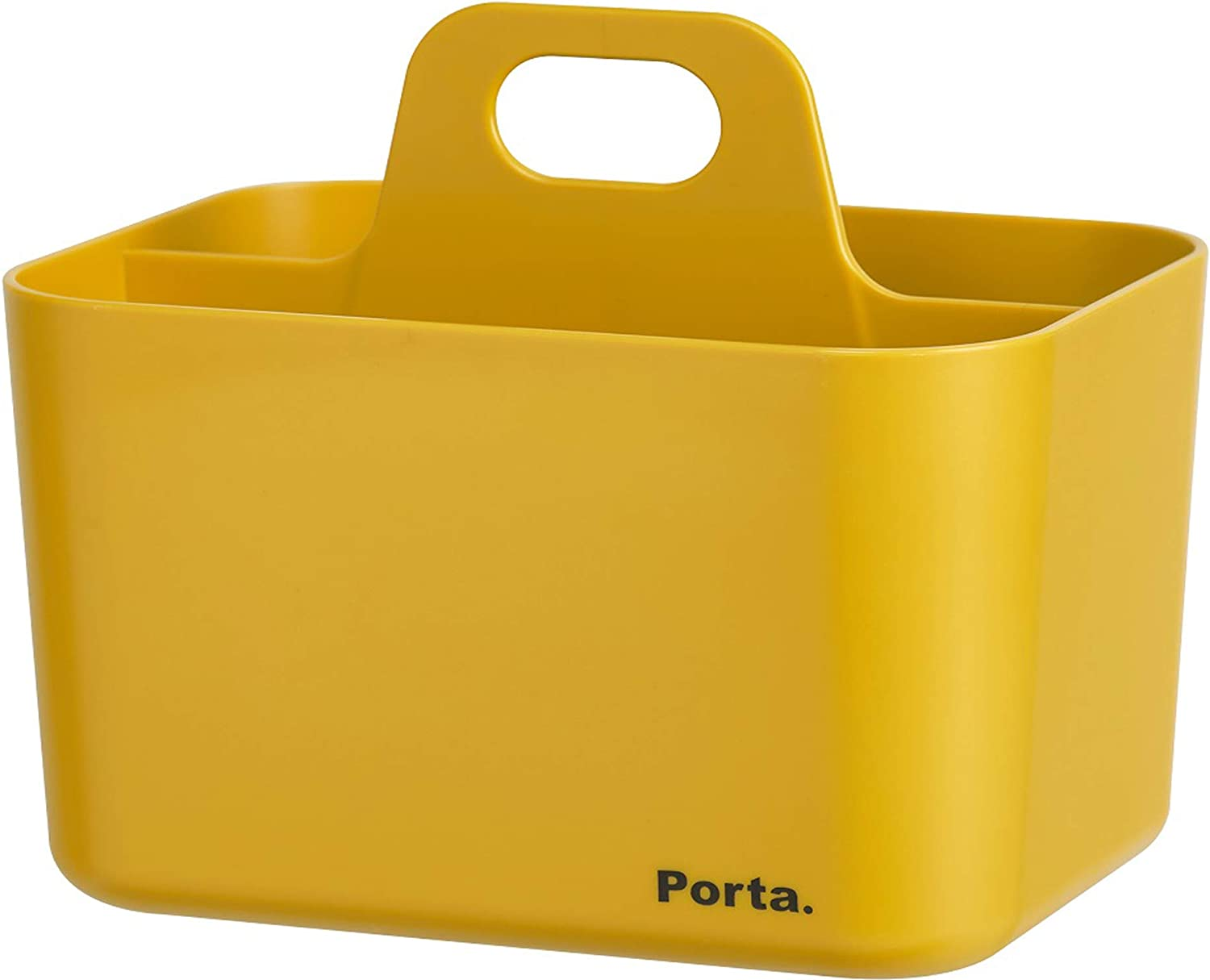 Litem Porta Mini - A Compact & Stackable Storage Unit for organizing Small Objects in Kitchen, Office, Kids Room (Yellow, 5.9Wx4.3Dx5.3H)