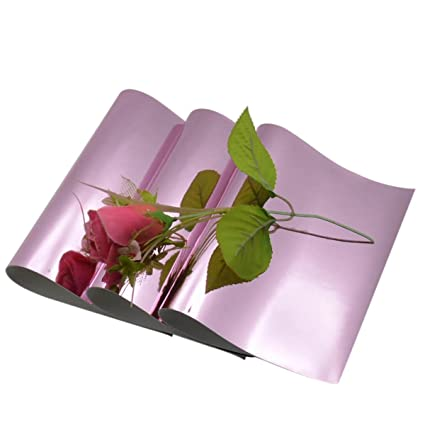 Amazon 3 Pieces A4 Size Pink Glossy Mirrored Faux Leather