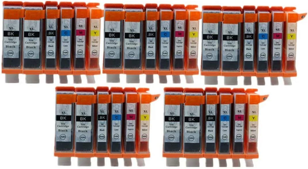 No-name Compatible Ink Cartridge Replacement for Canon PGI225 PGI 225 XL CLI-226 PGI-225 MG 6110 6120 6120Refurbished 6220 8120 8120B 8220 MX 882 892 Inkjet Printer 1 Set 5 Color + 1 Black