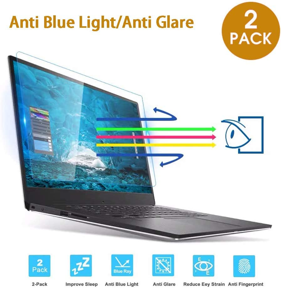 "2-Pack VIUAUAX 17.3"" Laptop Anti Blue Light Anti Glare Screen Protector, Eye Protection Blue Light Blocking Screen Protector for 17.3"" with 16:9 Aspect Ratio Laptop Screen(Size: 15"" W x 8.5"" H)"