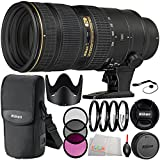 Nikon AF-S NIKKOR 70-200mm f/2.8G ED VR II Lens Bundle with Manufacturer Accessories & Accessory Kit (14 Items) - International Version (No Warranty)