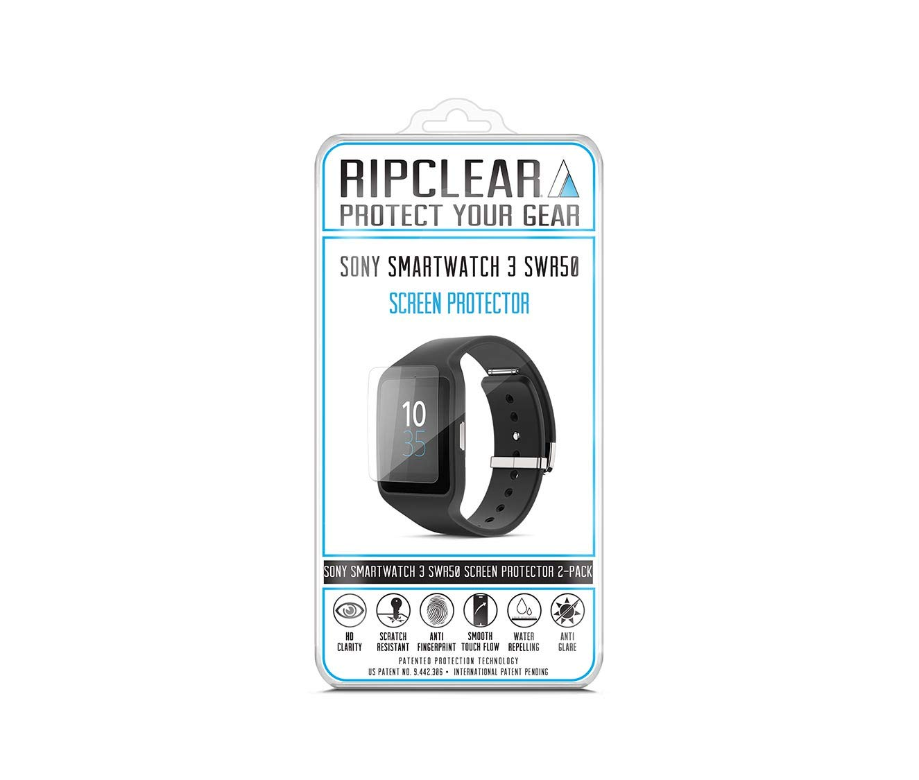 Ripclear Sony SmartWatch 3 SWR50 Smartwatch Screen Protector Kit ...