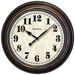 Westclox 32213 Round Oversized Classic Clock, Large, Brown