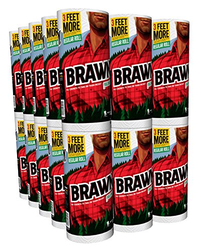 Brawny Individually Wrapped Regular Paper Towels Rolls, Whit